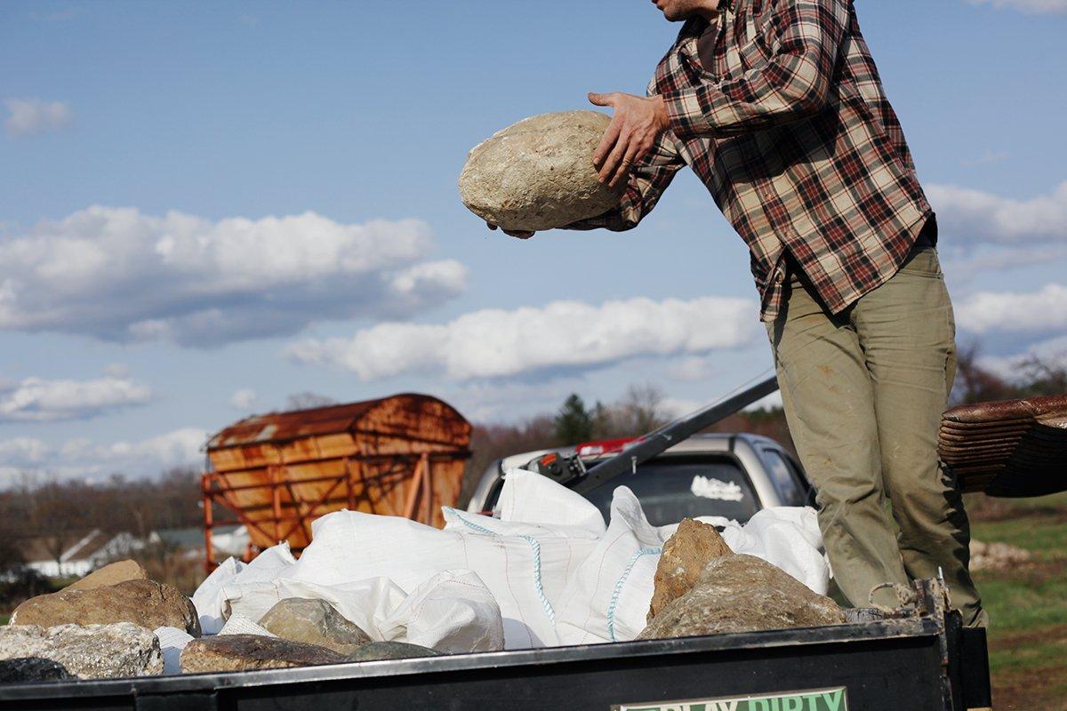 American Stonecraft Tulmeadow Farm Visit to harvest fieldstone