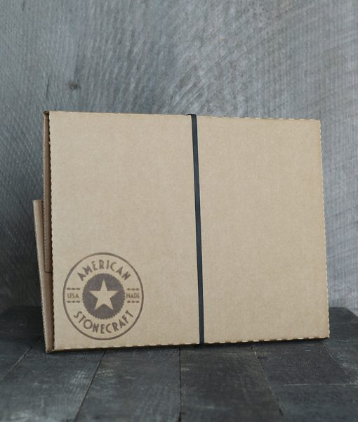 American Stonecraft packaging branded box for handmade fieldstone food slab small