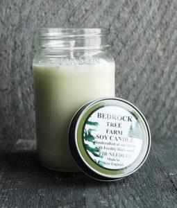 Bedrock Tree Farm Douglas Fir Needle Soy Candle from Rhode Island handmade