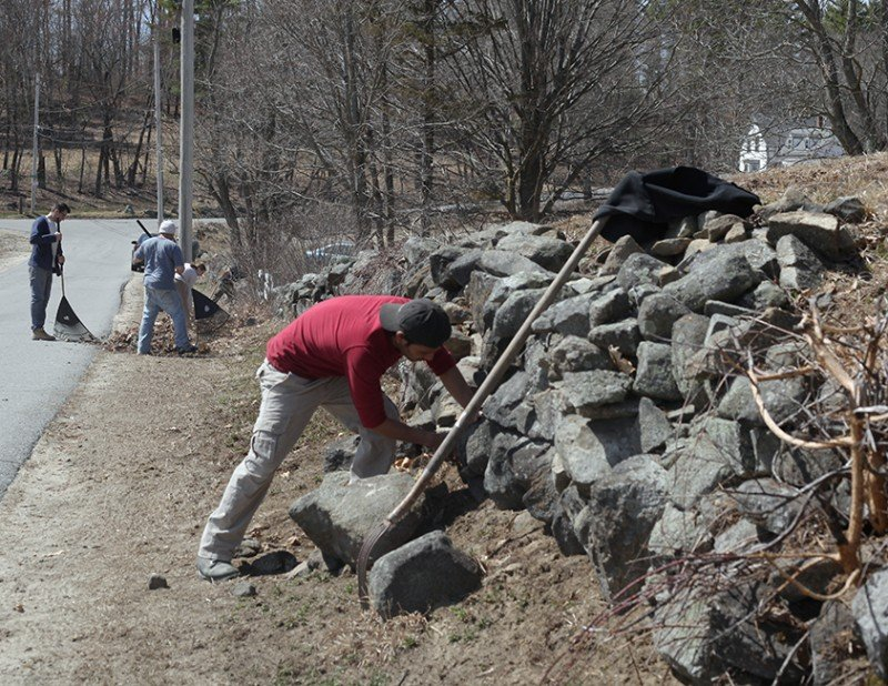 American Stonecraft Mending Wall Day Community Service Project Massachusetts Dunstable