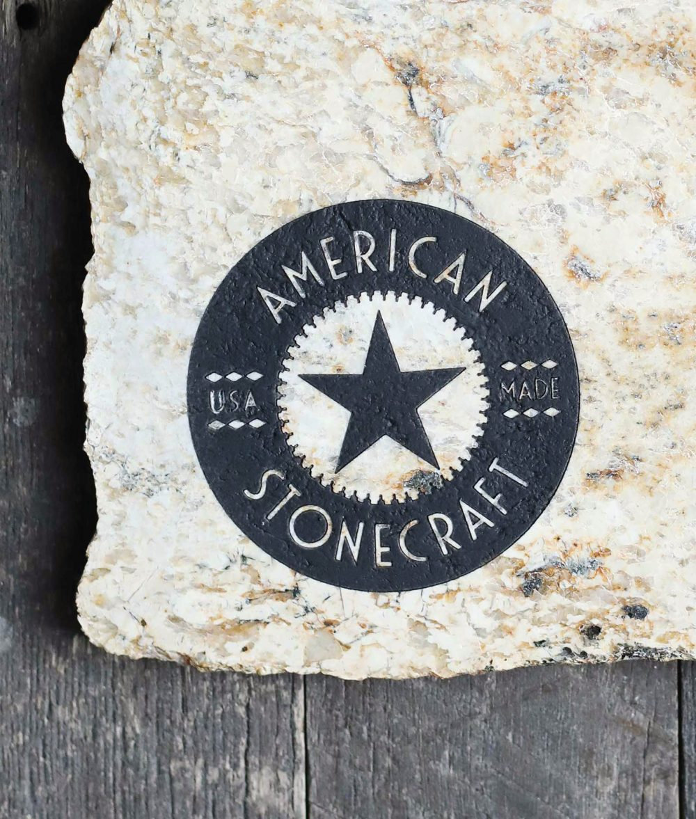 american stonecraft stone engraving handmade made in the usa rock customize artisan lowell massachusetts ma wedding gift anniversary birthday personalize engrave cheese board food slab