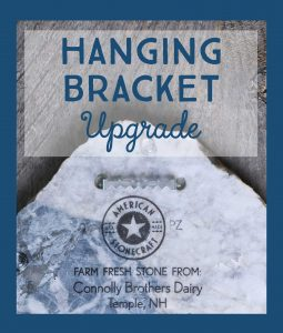 hanging bracket upgrade