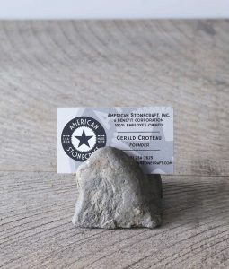 stone rock business card holder desk art natural handmade photo display cool