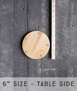 lazy susan 6 inch wood made for stone