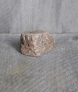 stone rock salt cellar box handmade in usa fieldstone new england rustic home kitchen