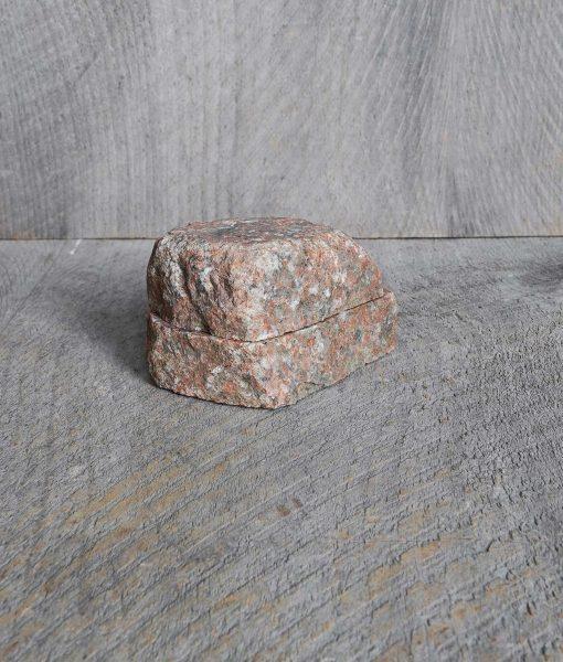 stone rock salt cellar box handmade in usa fieldstone new england rustic home kitchen