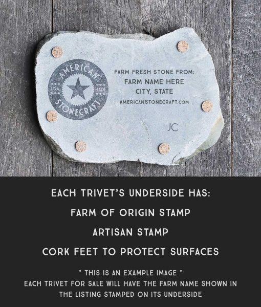 trivet back feet underside stamp